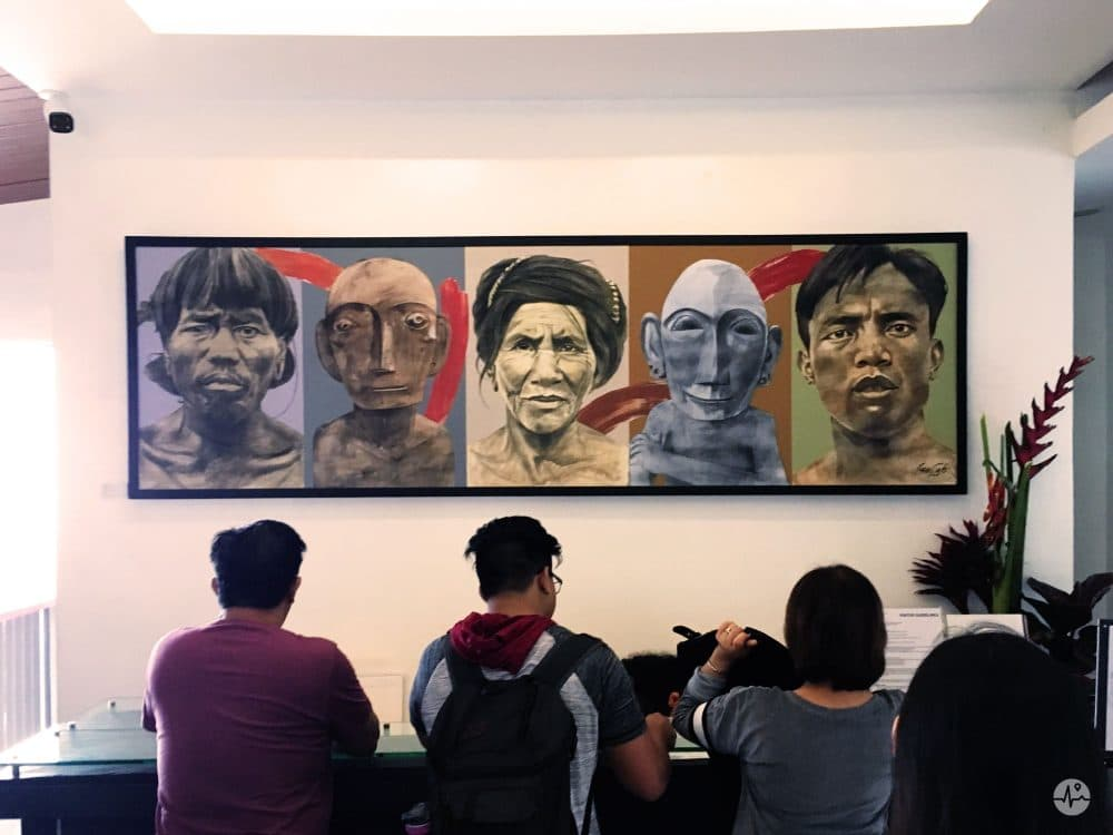 Picture of an Artwork at the Entrance of the Bencab museum in Baguio