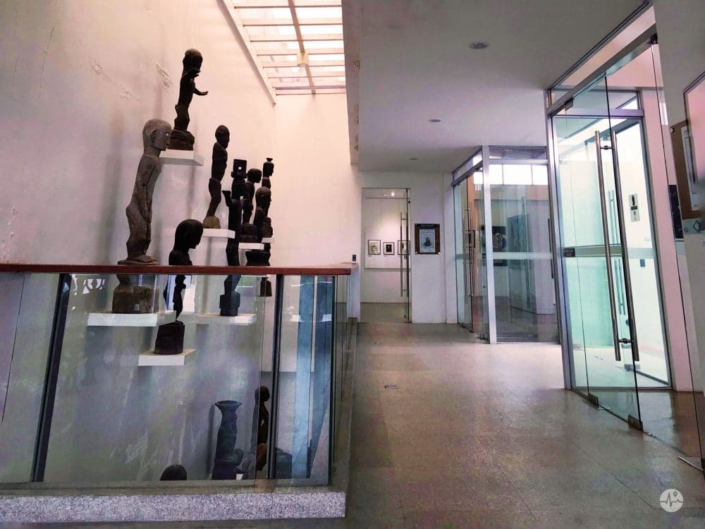 Picture of White clean hallway of BenCab Museum