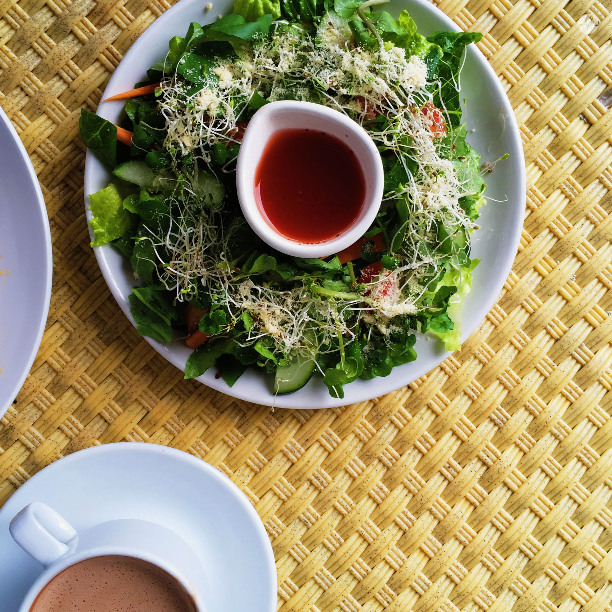 Photo of Farm Fresh Green Salad with Strawberry Vinaigrette in Cafe Sabel