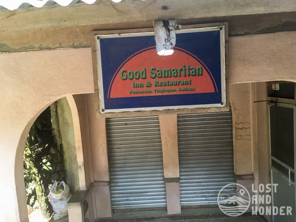 Good Samaritan Restaurant in Tinglayan, Kalinga