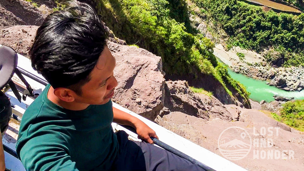 Dangerous cliff going to Bontoc