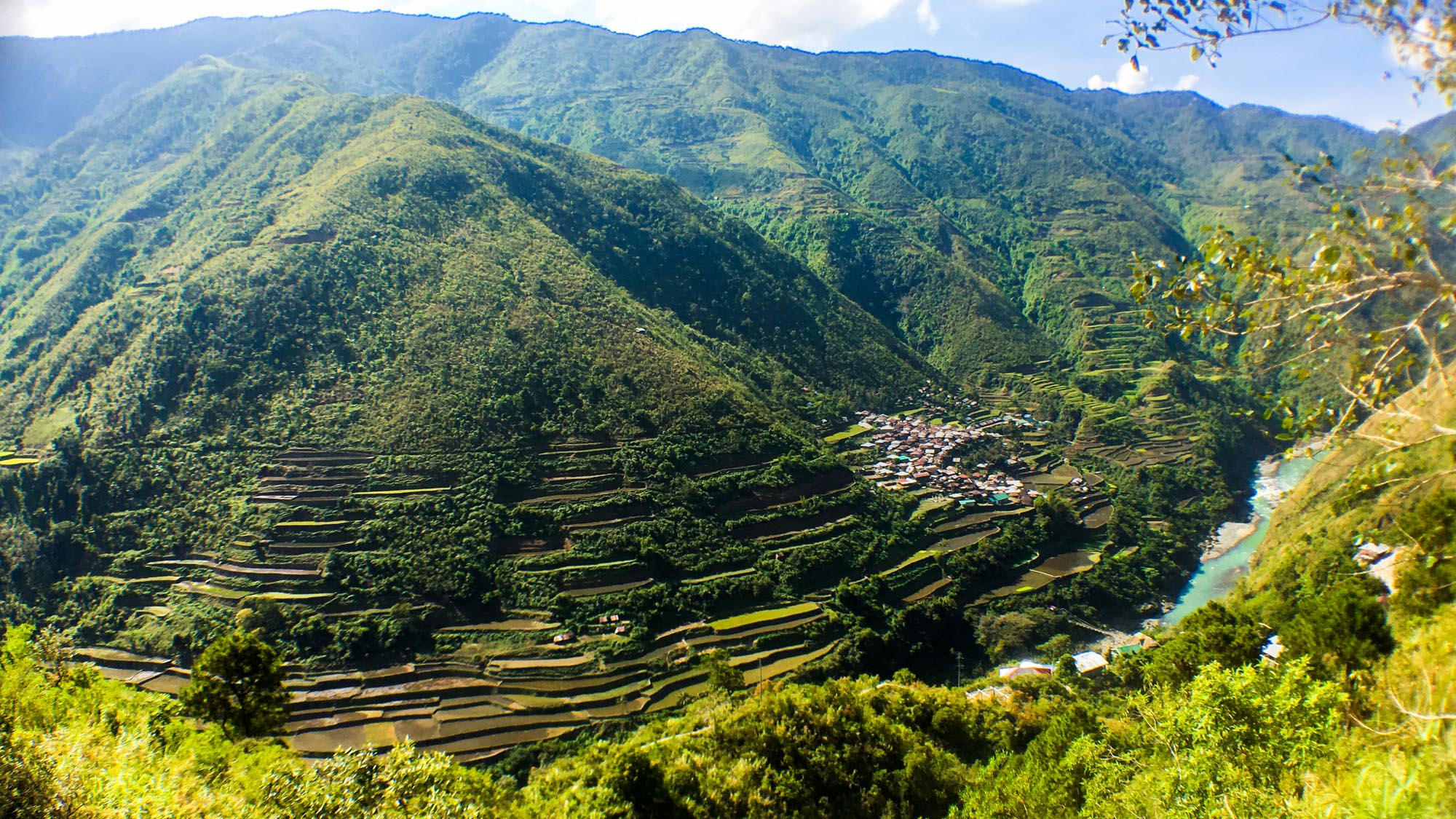 The view of Barangay Bugnay, Tinglayan, Kalinga while riding a habal-habal.