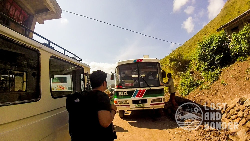 Mini Bus going to Bontoc Mountain Province