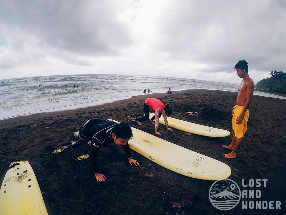 Surfing Lesson in Real, Quezon at the PaRK, Pacific Recreation Kamp