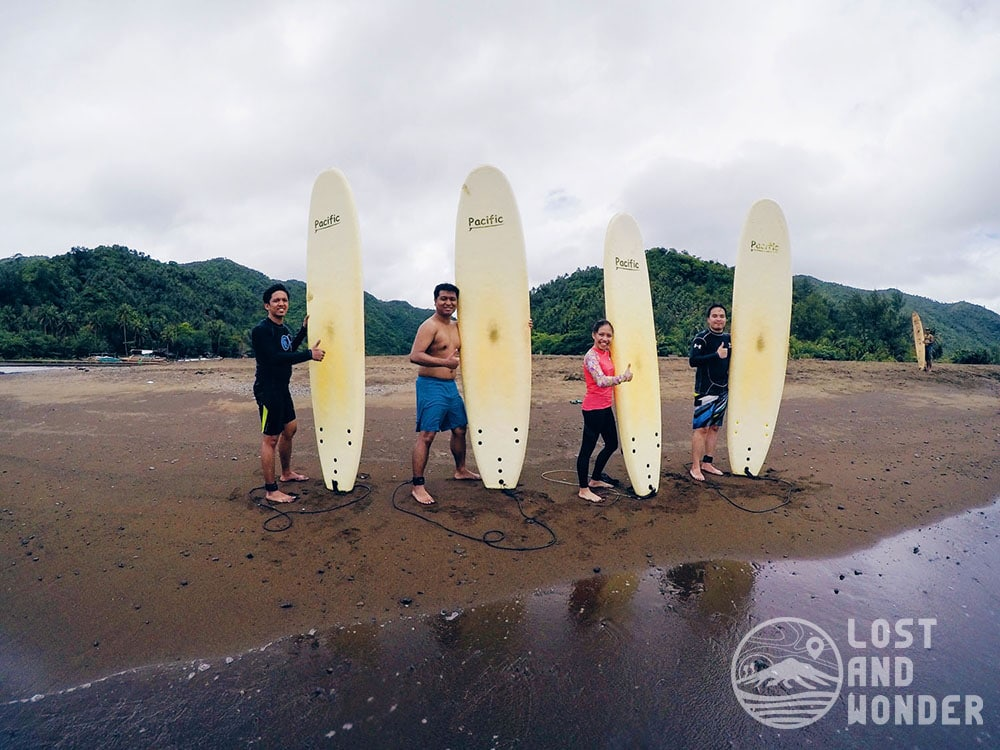Surfing in Real, Quezon, Philippines