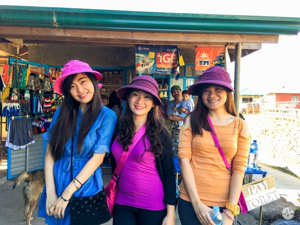 A photo of women buying hiking items in Sagada