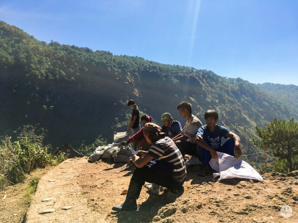 Photo of miners in Sagada