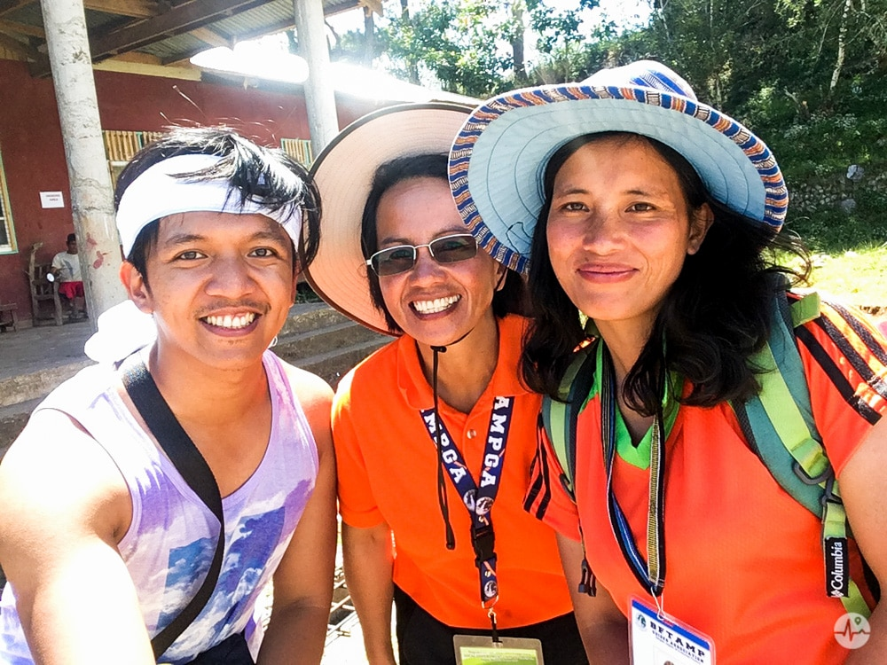 Together with Ma'am Alice (middle) and Ma'am Ester (right), our amazing guides for this trip.