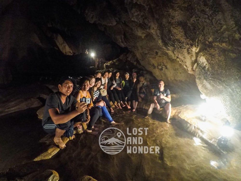 Sinter pool in Sumaguing Cave in Sagada
