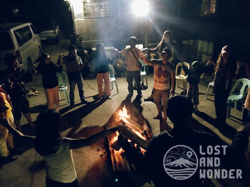 Bonfire activity with the locals and other travelers. :)