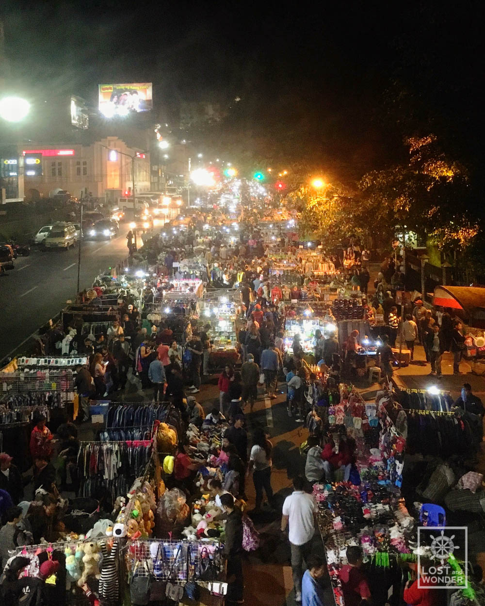 Photo of aerial view of Baguio Night Market