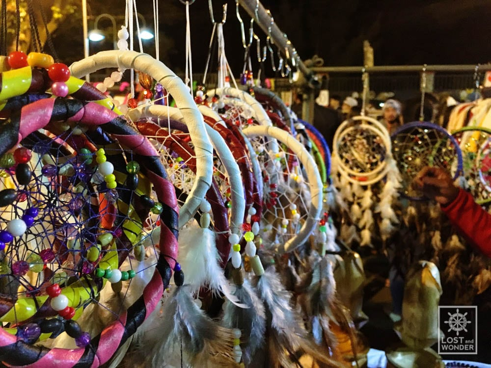 Photo of a dream catcher being displayed in Baguio Night market