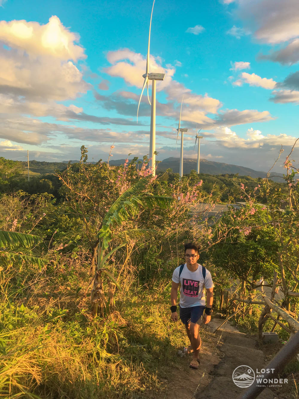 photo uphill in pililla wind farm