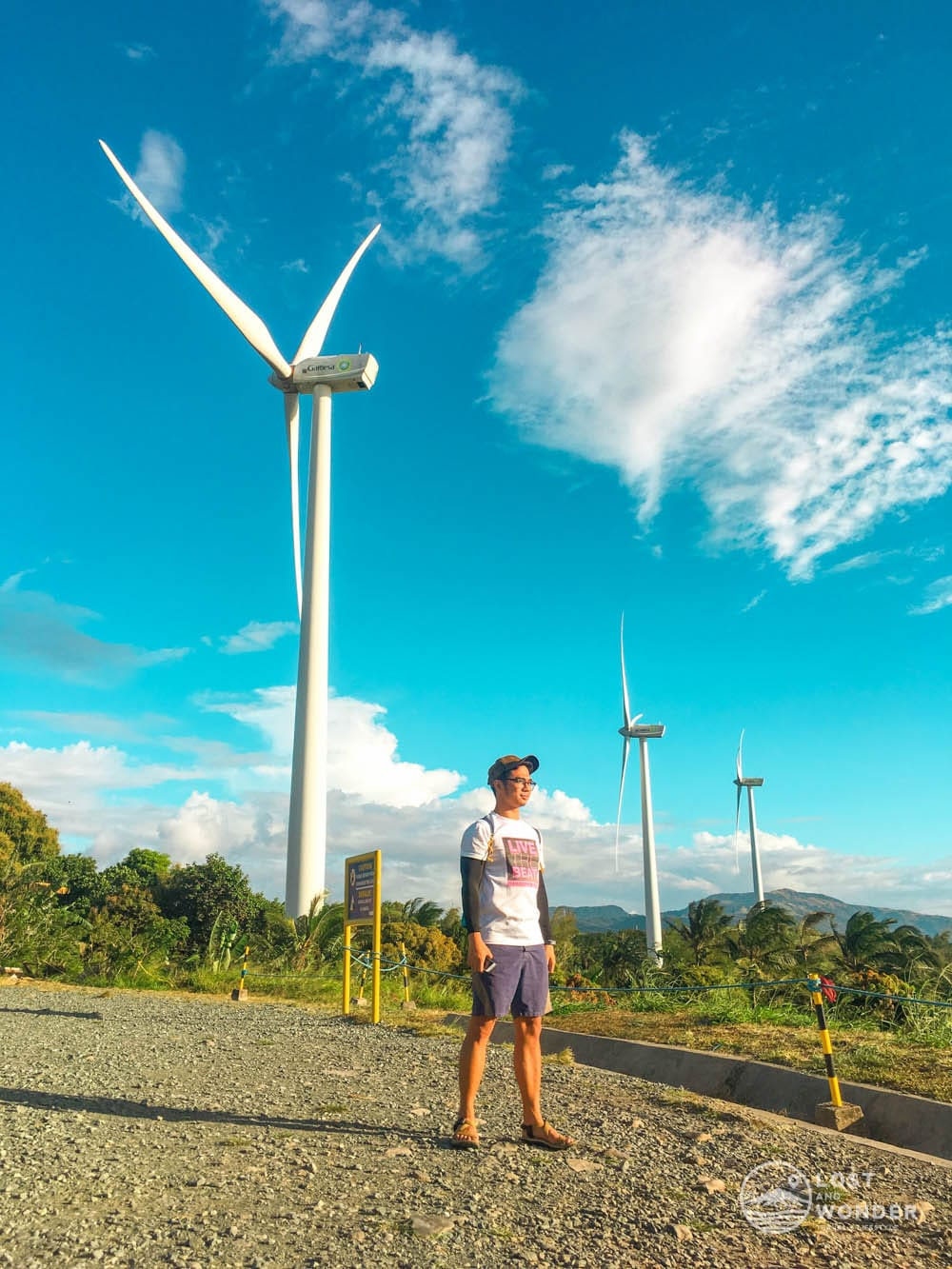 Photo upclose with the Pililla Wind Farm