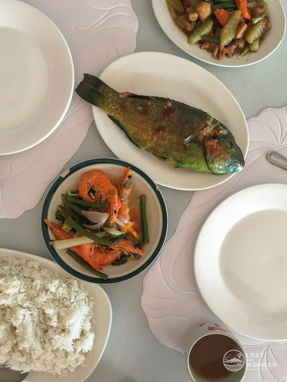 photo of seafood served in Magalawa Island Armada Resort