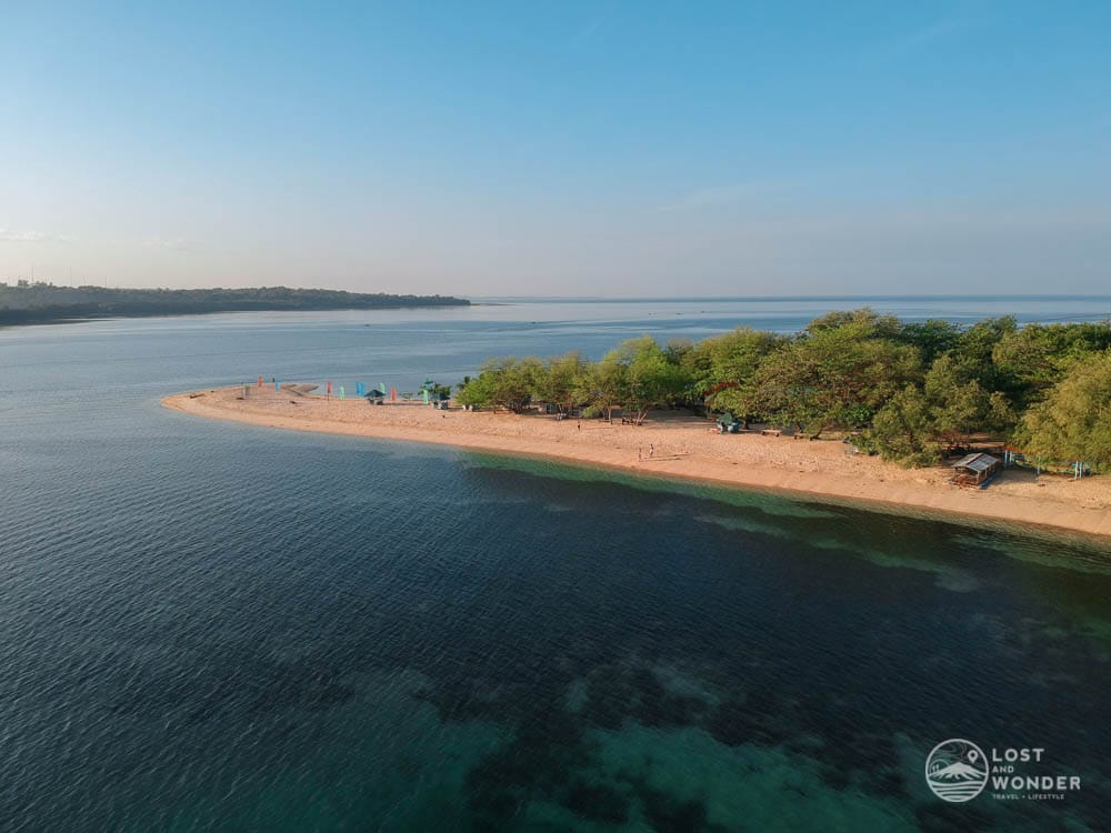 Photo: drone shot of Magalawa Island in Zambales