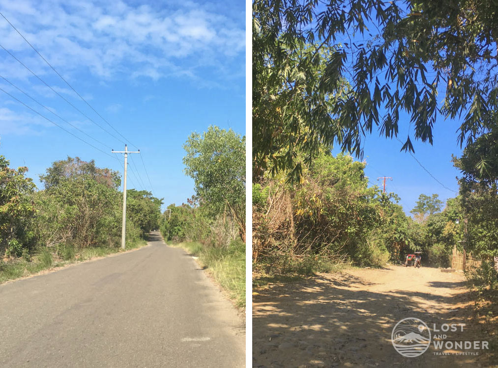 photo of radio veritas road going to barangay luan in palauig, zambales