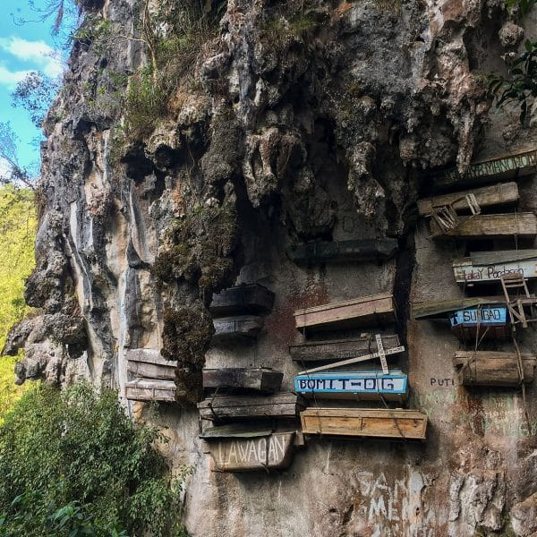 Picture of hanging coffins of Sagada