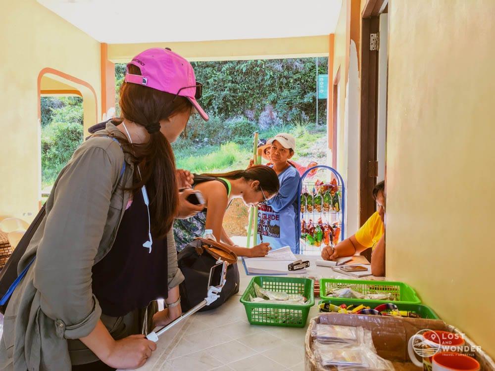Photo at the registration area in Osmena Peak Cebu