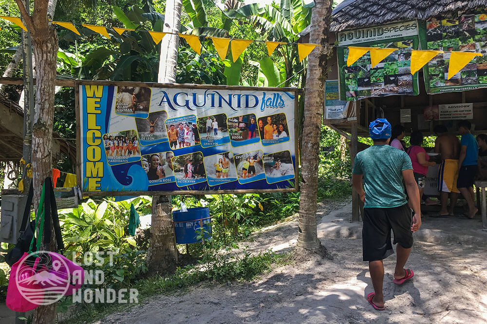 Photo of entrance to Aguinid Falls