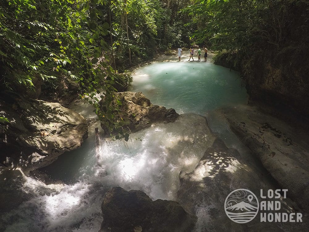 Photo of a plunge pool in aguinid
