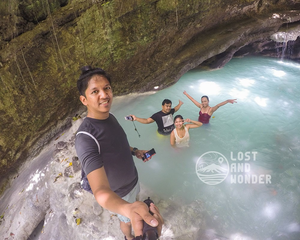 Photo of Lost and Wonder with our tour guide Kuya Tata in Samboan Cebu