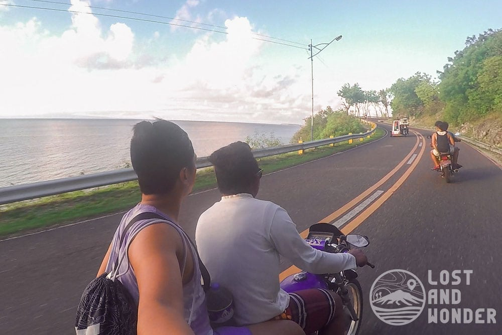 Our photo riding the habal-habal in Oslob, Cebu