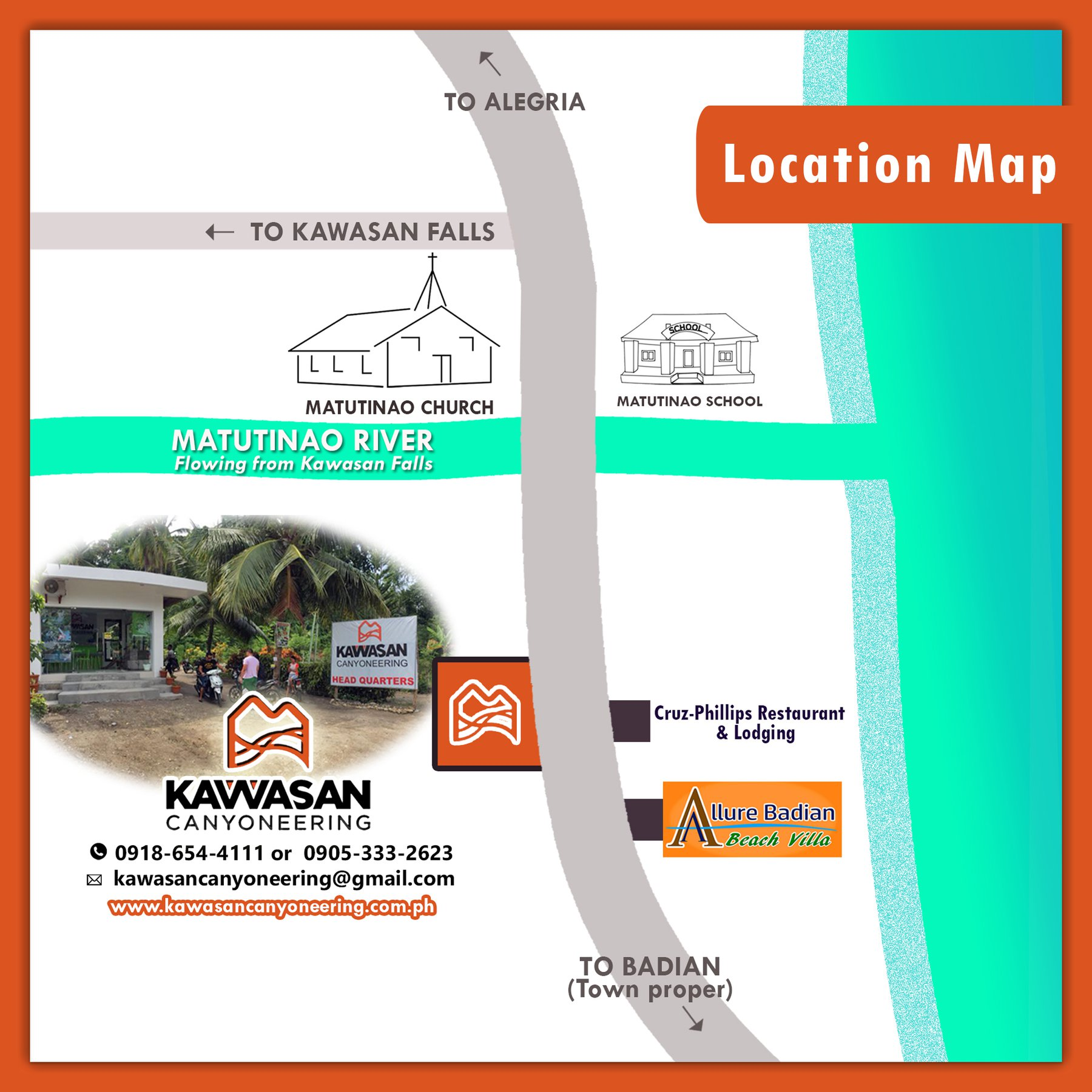Photo of directions going to Kawasan Canyoneering