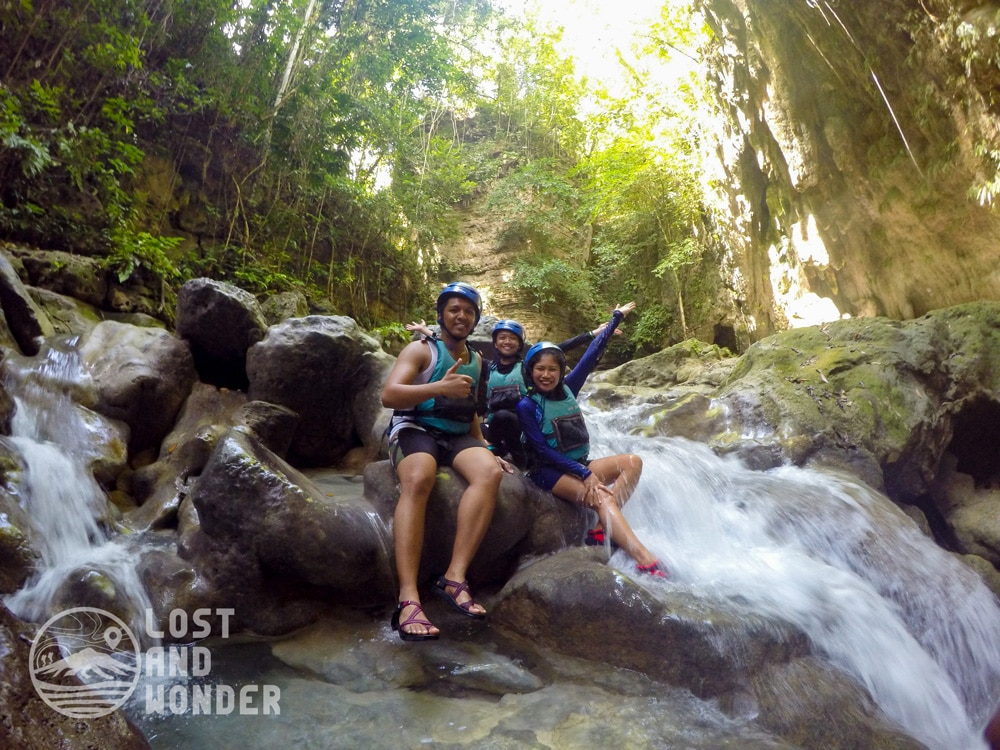 Photo taken during our Kawasan Canyoneering adventure