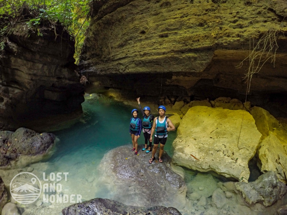 Photo during Kawasan Canyoneering