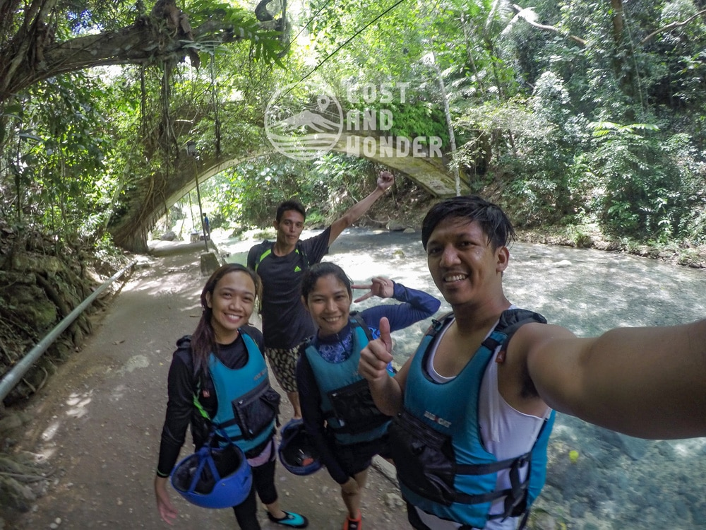 Photo of us with kuya bernard of Kawasan Canyoneering
